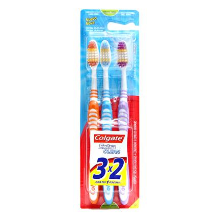 Escova Dental Colgate Extra Clean Macia 3un Promo Leve 3 Pague 2